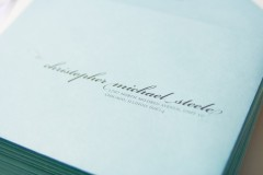 Envelope front detail