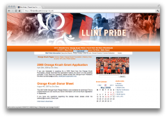 2006-2008 Illini Pride Website - Orange Krush (Individual Sports Page)