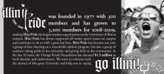 2008 Illini Pride Homecoming Advertisement in the Daily Illini